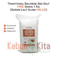 Traditional Balinese Sea Salt FINE GRAIN 1 Kg ( Garam Laut Alami )