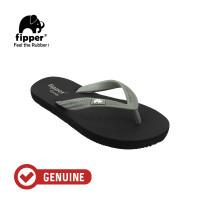 Fipper Comfy / Sendal Jepit Unisex / Black - Green Schits