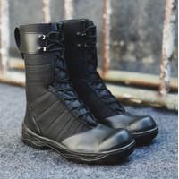 COD !! Sepatu PDL Boots Pria Black Force Sepatu Pria Safety Ujung Besi