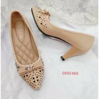 sepatu wanita olavis hak tinggi pansus korea kanvas 5cm