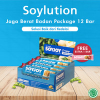 SOYJOY SOYlution Jaga Berat Badan Package 12 bar - White Macadamia