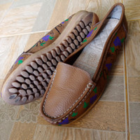 Slip on kulit wanita import/Size 38/Sepatu Second import