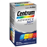 Centrum Advance 50+ Multivitamin & Minerals From A to Zinc For Adults