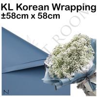 20 Lembar KL Korean Wrapping N - Cellophane - Wrapping Paper - Bunga
