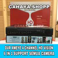 DVR XMEYE 4 CHANNEL 5MP FULL HD 6 IN 1 / DVR AHD