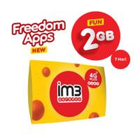 IM3 OOREDOO STARTER PACK - FREEDOM APPS FUN 2 GB/ 7 Hari