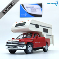 Kinsmart Dodge Ram Truck Camper - Merah