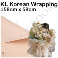 20 Lembar KL Korean Wrapping Y - Cellophane - Wrapping Paper - Bunga