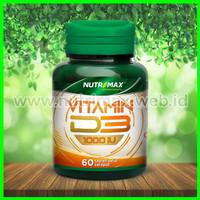 Nutrimax Vitamin D3 1000 IU isi 60 Tablet Vit D 3 1000IU Imunitas Imun