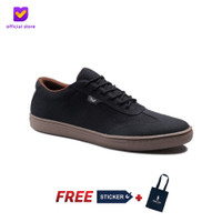 Sepatu Pria Sneakers Footstep Footwear - Atom Black
