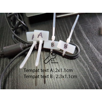 LABEL Kabel ties Cable tie Maker 3x100 10CM name tag lan tulis 100pc - Kepala Atas A