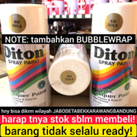 DITON GOLD COLOR WARNA EMAS MAS CAT SEMPROT PILOKS PILOX PYLOX SPRAY