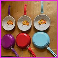 Frying Pan 1 Set isi 2 pcs Teflon Masak Wajan Goreng Polos Fry Pan Set