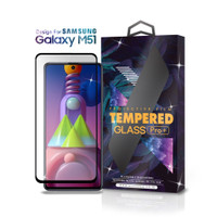 Tempered Glass Samsung Galaxy M51 Full Cover Black - Premium Glass Pro