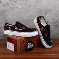 Sepatu Vans Authentic Motif Multi Cherry Cherries Red Black DT BNIB