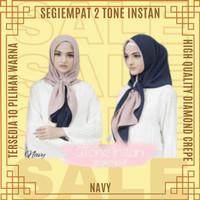 Segiempat 2 Tone Instan Kerudung Jilbab Hijab Krudung Segi Empat Cewek