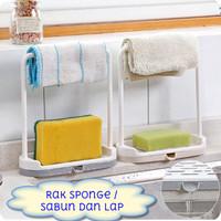 Rak Tirisan Spons Sabun Lap Dapur Wastafel Kitchen Drain Rack Towel