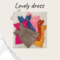 LOVELY DRESS SANTAI ANAK | DRESS ANAK PEREMPUAN | DRESS RUFFLE ANAK MU - Brown Milo, 3y