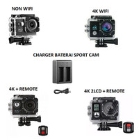 Sportcam 4K Non Wifi 2 LCD Remote Camera Action Cam Kamera Sport