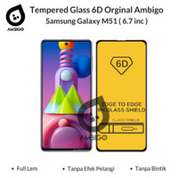 Tempered Glass 6D 9D Samsung Galaxy M51 Full Cover Ambigo