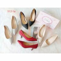 Olavis 112-1a ~ pansus pump heels glitter sepatu wanita hak tinggi 4cm