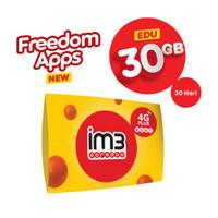 IM3 OOREDOO STARTER PACK - FREEDOM APPS EDU 30GB/ 30Hari