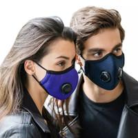 double Valve katup kn95 masker katun kain filter kapas respirator cuci