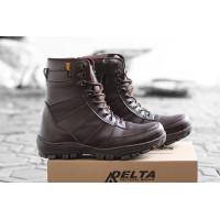 Sepatu Boots Safety King Ninja Sepatu PDL Tracking Ujung Besi - Coklat