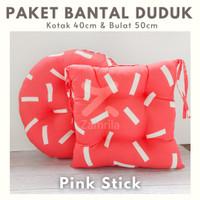 Paket Couple Pink Stick, Bantal Duduk Kotak & Bulat Kualitas Premium