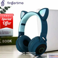 FINGERTIME™ Headset Gaming Headphone Bluetooth Wireless Meng Cat Ear