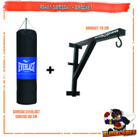 Paket Murah Samsak Tinju 80cm + Bracket Gantungan Tembok Sansak 100cm