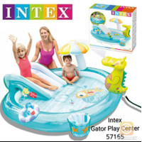 Intex Kolam Renang Gator Play Centre Prosotan Play Pool With Slide NEW