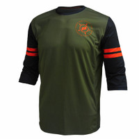 JERSEY SEPEDA MTB JUSTRIDE MORE-21 ARMY GREEN