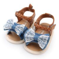 Sepatu Sandal Bayi Perempuan Impor / Alas Kaki Prewalker Motif Pita - S