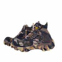 Sepatu Boots Pria Walkers Camo 6inci Sepatu Safety Boots Ujung Besi