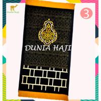 Sajadah Besar Exclusive Kiswah Pintu Kabah Special Edition Hitam Tebal