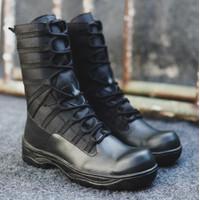 Sepatu PDL Pria Black Force Sepatu Boots Safety Ujung Besi Tracking