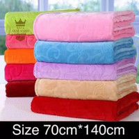 handuk mandi dewasa handuk warna embos 70 x 140 cm