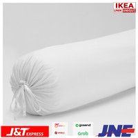 DVALA SARUNG BANTAL GULING BOLSTER BAHAN KATUN 100% WARNA PUTIH IKEA