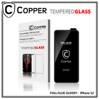 iPhone 12 New - COPPER Tempered Glass FULL GLUE PREMIUM GLOSSY
