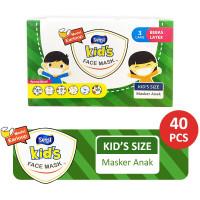 Sensi Kids Mask 3ply Earloop Motif Isi 40 Masker Medis Anak