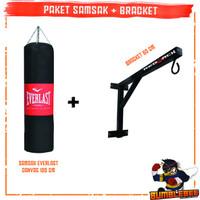 Paket Samsak Tinju Muay Thai 120cm + Bracket Gantungan Tembok 60cm