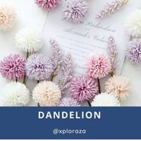 Bunga Dandelion Artificial Palsu Plastik Imitasi