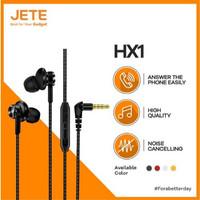 Jete HX1 Headset Earphone Handsfree Stereo Bass 3.5mm