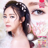 softlens kadar air 55% Kitty Kawaii Mini Rose Gray Brown - Abu-abu