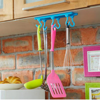 [ ATAS ] Gantungan Tempel Atas 6 Kait Multifungsi Untuk Alat Dapur