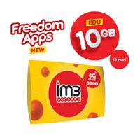 IM3 OOREDOO STARTER PACK - FREEDOM APPS EDU 10GB/ 15 Hari
