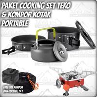 Paket Hemat Cooking Set With Teko / ceret & Kompor Outdoor Kovar
