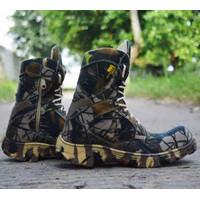Sepatu PDL Loreng Pria Walkers CAMO 8in Sepatu Boots Safety Ujung Besi