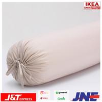 DVALA SARUNG BANTAL GULING BOLSTER BAHAN KATUN 100% WARNA KREM IKEA